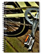 Sprocket And Chain Spiral Notebook
