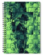 Square Mania - Old Man - Limeblue Spiral Notebook