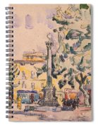 Square Of The Hotel De Ville Spiral Notebook