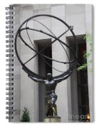 Square Shoulders - Hercules Statue Spiral Notebook
