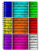 Squared Color Wall  Spiral Notebook