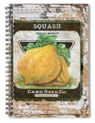 Squash On Vintage Tin Spiral Notebook