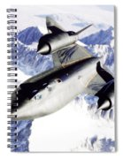 Sr-71 Over Snow Capped Mountains Spiral Notebook