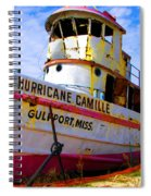 Ss Hurricane Camille Tugboat Spiral Notebook