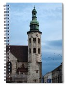 St. Andrew's Church In Krakow At Dusk Spiral Notebook