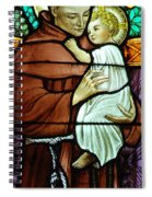 St Anthony In Stained Glass Spiral Notebook