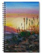 Beach At Sunrise Spiral Notebook