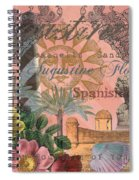 St. Augustine Florida Vintage Collage Spiral Notebook