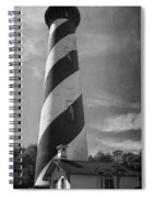 St Augustine Lighthouse Bw Spiral Notebook