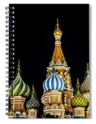 St. Basil's Cathedral At Night Spiral Notebook