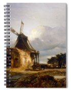 St Benets Abbey And Mill, Norfolk, 1833 Spiral Notebook