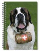St. Bernard Dog Spiral Notebook