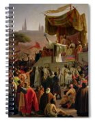 St Bernard Preaching The Second Crusade In Vezelay Spiral Notebook