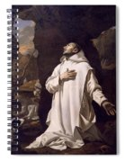 St Bruno Praying In Desert Spiral Notebook
