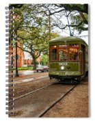 St. Charles Ave. Streetcar In New Orleans Spiral Notebook