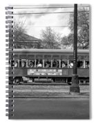 St. Charles Ave. Streetcar Monochrome Spiral Notebook