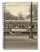 St. Charles Ave. Streetcar Sepia Spiral Notebook