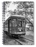 St. Charles Streetcar 2 Bw Spiral Notebook