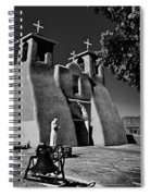 St Francis In Black And White Spiral Notebook