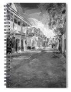 St George Street St Augustine Florida Painted Bw Spiral Notebook