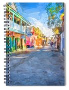St George Street St Augustine Florida Painted Spiral Notebook