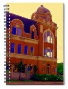 St Henri Poste De Pompiers Bureau De Poste Historic Montreal Art City Scenes Carole Spandau  Spiral Notebook