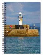 St Ives And Godrevy Lighthouses Cornwall Spiral Notebook