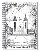 St James And Dove Spiral Notebook