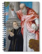 St. Jerome And A Donor Spiral Notebook