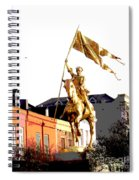 St Joan Of Arc Statue At Dawn Spiral Notebook