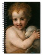 St. John The Baptist With The Lamb Spiral Notebook