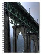 St Johns Bridge Oregon Spiral Notebook
