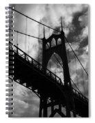 St Johns Bridge Spiral Notebook