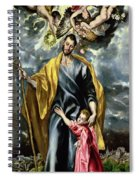 Saint Joseph And The Christ Child Spiral Notebook