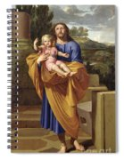 St. Joseph Carrying The Infant Jesus Spiral Notebook