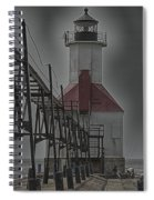 St. Joseph North Pier Lighthouse Lake Michigan Spiral Notebook