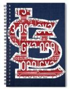 St. Louis Cardinals Baseball Vintage Logo License Plate Art Spiral Notebook