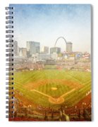 St. Louis Cardinals Busch Stadium Texture 2 Spiral Notebook