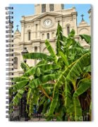 St. Louis Cathedral And Banana Trees New Orleans Spiral Notebook