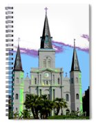 St Louis Cathedral Poster 2 Spiral Notebook
