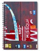 St. Louis Skyline License Plate Art Spiral Notebook