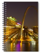 St Louis Skyline With Special Zoom Effect Spiral Notebook