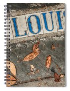 St Louis Street Tiles In New Orleans Spiral Notebook