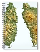 St Lucia And Dominica Map Spiral Notebook