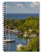 St Lucia Harbor Spiral Notebook