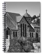 St Malo Chapel On The Rock Colorado Bw Spiral Notebook