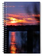 St. Marten River Sunset Spiral Notebook