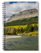 St. Mary River And East Flattop Mountain Spiral Notebook