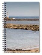 St Marys Lighthouse Across Sandy Bay Spiral Notebook