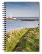 St Marys Lighthouse From Cliff Top Spiral Notebook